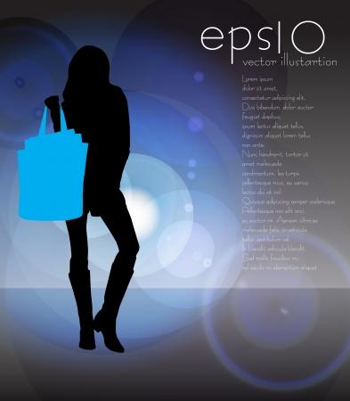illustration of elegant shopping girl Vector