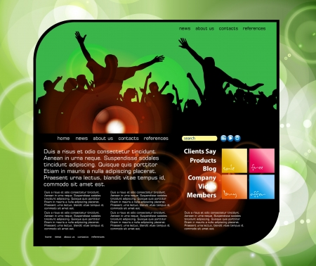 Web site layout Stock Vector - 14547475