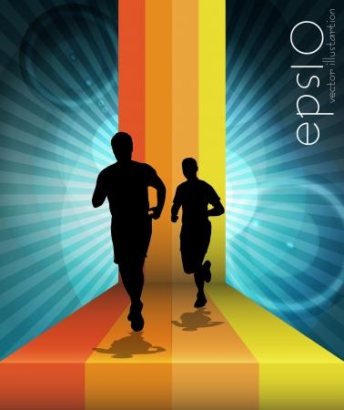 trace: Sport vector illustration Illustration