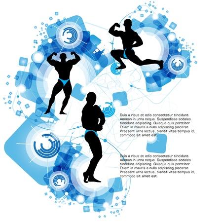 perfect fit: Sport illustration