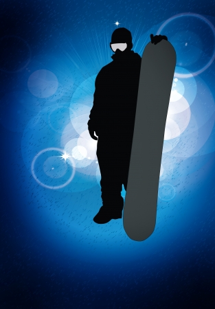 Snowboard background photo