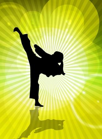 Illustration of karate illustration