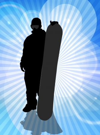 Snowboard background photo
