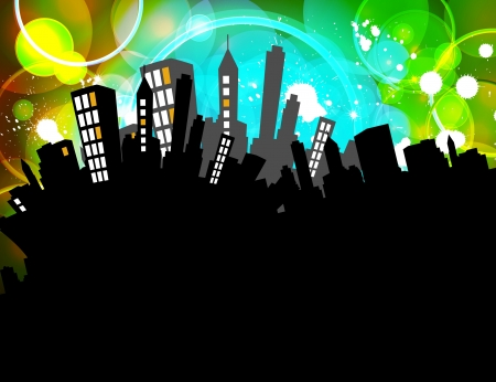 Abstract Background with Cityscape  photo