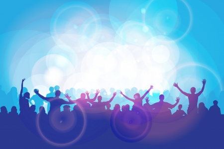 nightclub crowd: Dance party Illustration