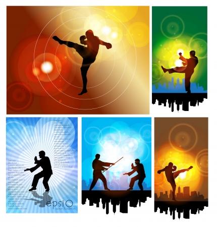 kemer: Karate illüstrasyon