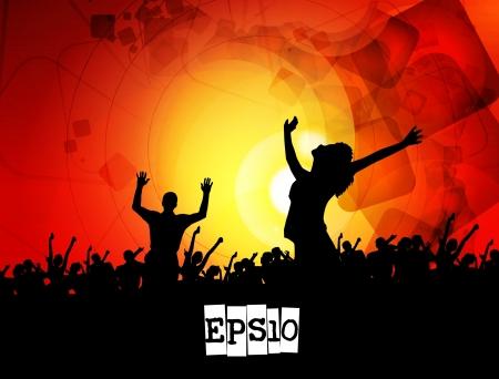 dancing disco: Music event illustration
