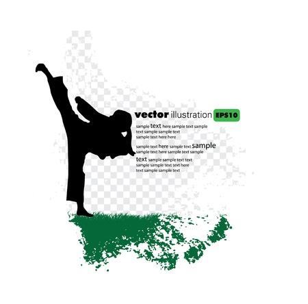 practise: Karate poster Illustration