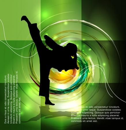 kungfu: Karate  Sport illustration Illustration