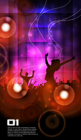 chilling: Music party illustration
