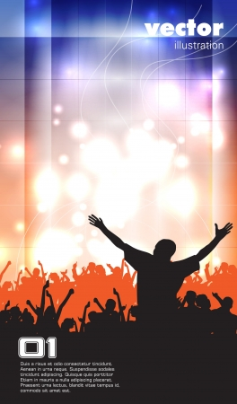 Music event background   illustration   Vector