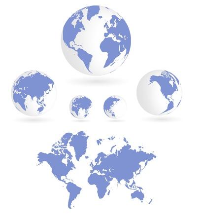 flat globe: World map