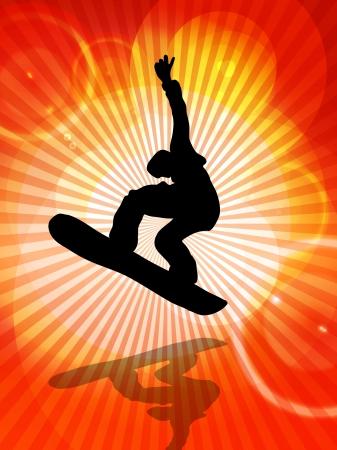 Snowboarder photo