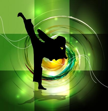 karate fighter: Karate illustration Stock Photo