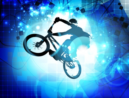bmx: BMX cyclist Stock Photo
