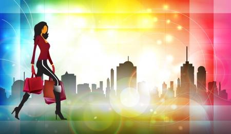 exaltation: Fashion illustration Stock Photo