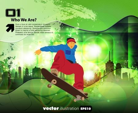 urban youth: Skateboard