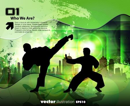 combative sport: Karate illustration Illustration