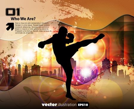 kyokushin: Karate illustration Illustration