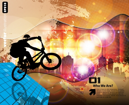 cyclist Stock Vector - 15030669