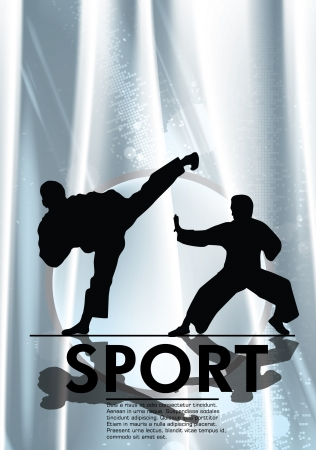 karate fighter: Karate illustration Illustration