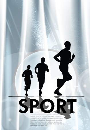 sports race: Running people