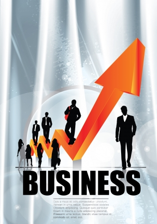 growth in economy: Business concept