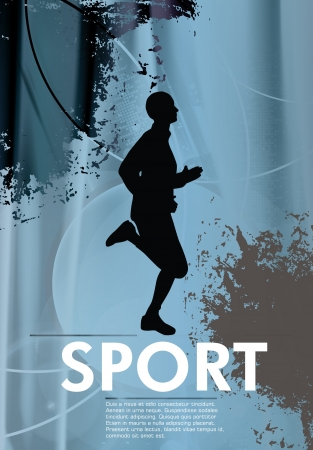 Runner  Sport illustration Vector