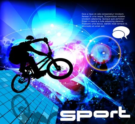 tire cover: BMX cyclist Illustration
