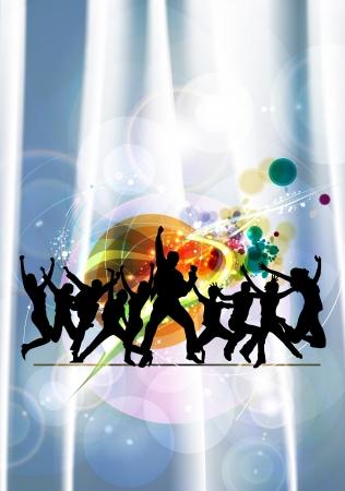 urban youth: Dancing people