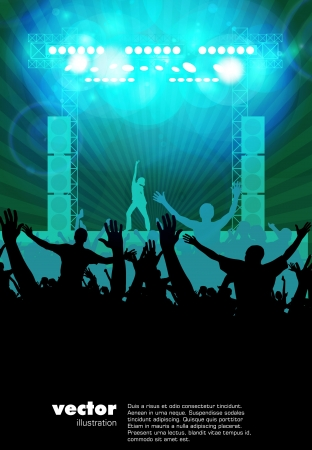 concert stage: Music event background