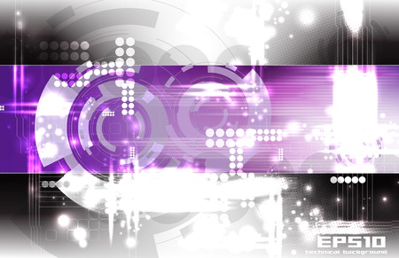 Abstract technical background Vector