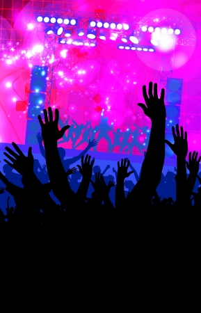 Crowd of people  Concert illustration Stock Illustration - 15229602