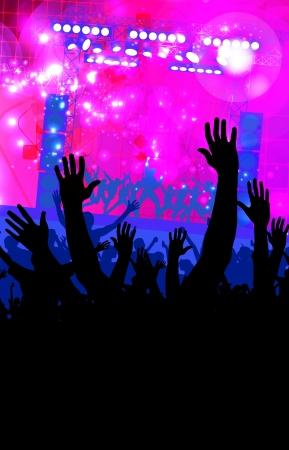 Crowd of people  Concert illustration