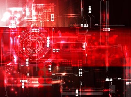 high tech: Futuristic technical background