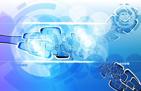 Futuristic technical background Stock Photo - 15229635