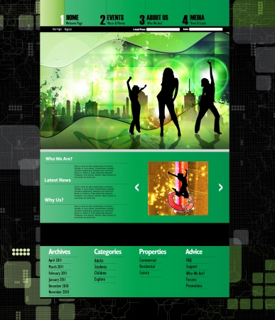 Music template web site  Website vector Stock Vector - 15241079