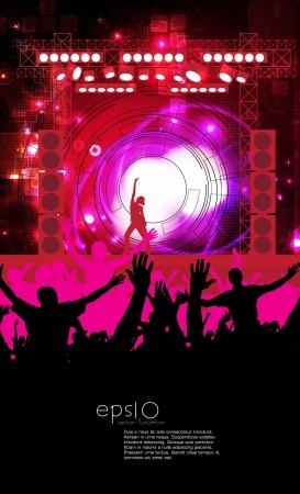 Dancing people  Music illustration Stock Vector - 15229559
