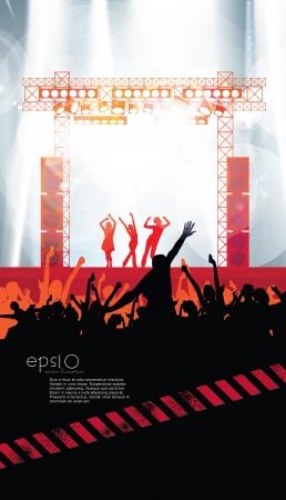Dancing people  Music illustration  Illustration