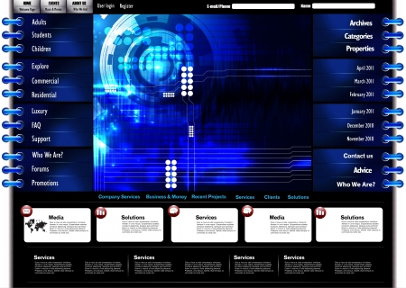 men bars: Technology template for web site