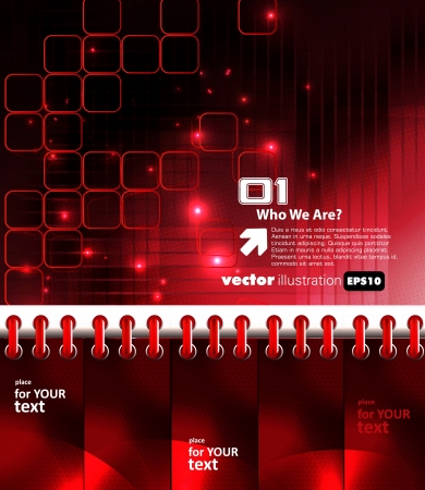 Red technical background Vector