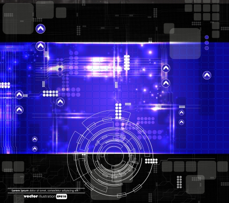 Futuristic technical background Vector