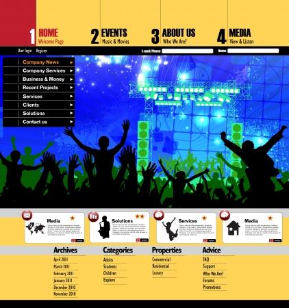 Web site design template Stock Vector - 15315586