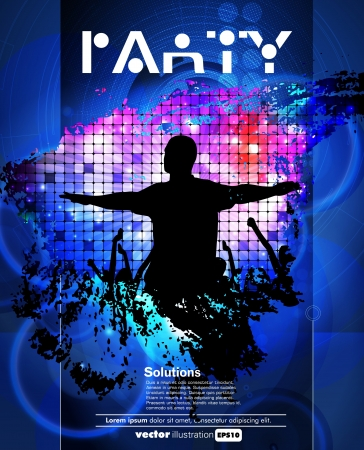 club flyer: Concert poster  Vector illustration