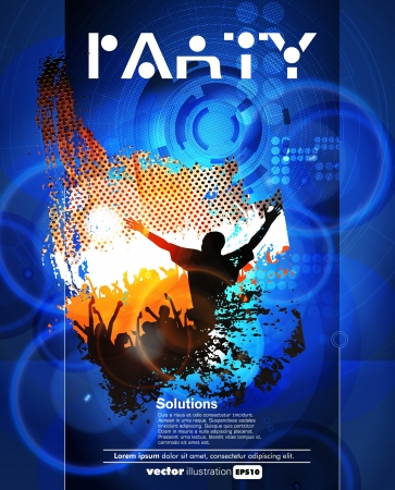 Concert poster  Vector illustration  Vector