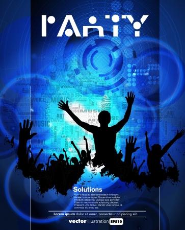crowd concert: Concert poster  Vector illustration