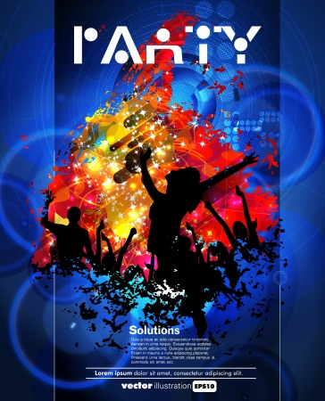 Concert poster  Vector illustration