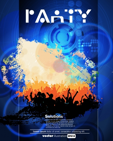 dance party background: Concert poster  Vector illustration