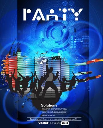 boate: Concerto cartaz ilustra��o vetorial