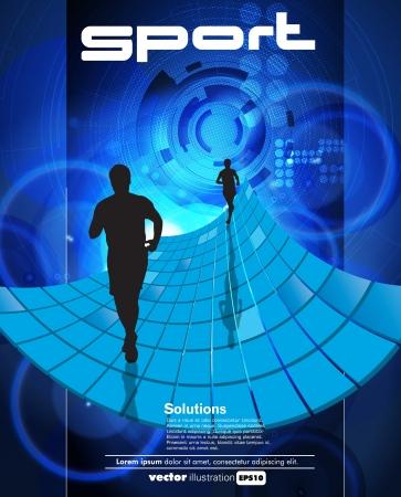 Runner sport illustration Stock Vector - 15338704